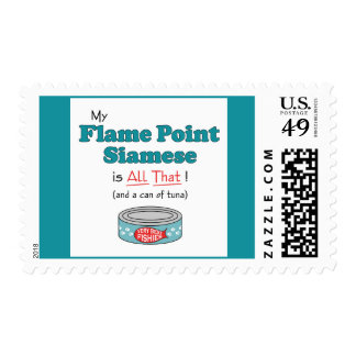 My Flame Point Siamese is All That! Funny Kitty Postage Stamps