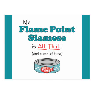 My Flame Point Siamese is All That! Funny Kitty Postcard
