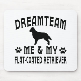 My Flat-Coated Retriever Dog Mouse Pad