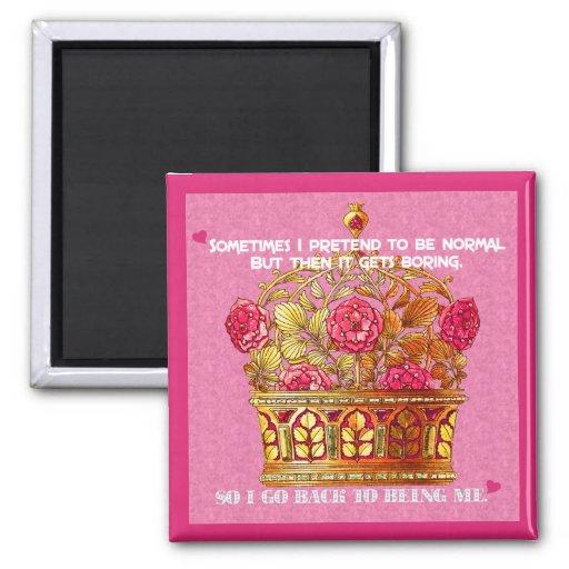 My Floral Crown Magnet