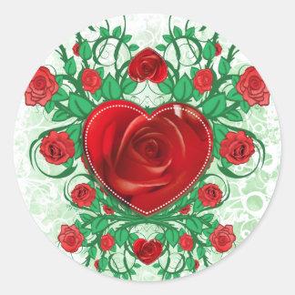 My Floral Heart round sticker