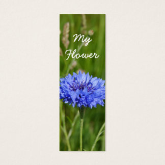 My Flower Beautiful Blue Cornflower bookmark pack Mini Business Card