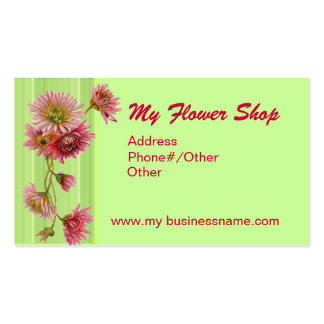 MY FLOWER SHOP by SHARON SHARPE Double-Sided Standard Business Cards (Pack Of 100)
