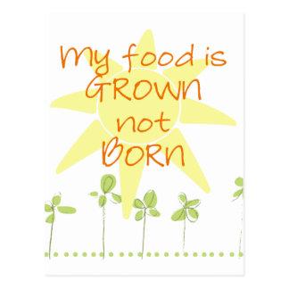 My Food is Grown, Not Born Postcard