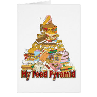 My Food Pyramid ~ Junk Food Snacks Greeting Card