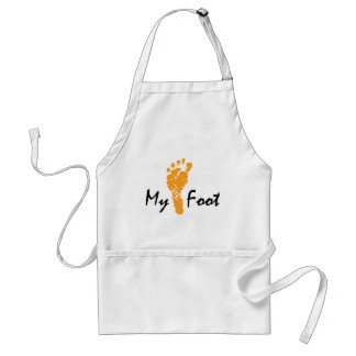 My Foot Adult Apron