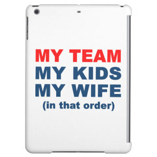 My Football Basketball Team Kids Wife iPad Air Cases