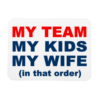 My Football Basketball Team Kids Wife Magnet
