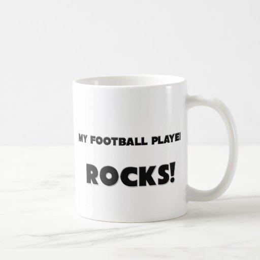 MY Football Player ROCKS! Classic White Coffee Mug