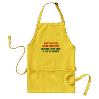 My Footsteps Adult Apron