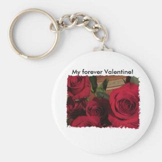 My Forever Valentine Roses Photo Keychain
