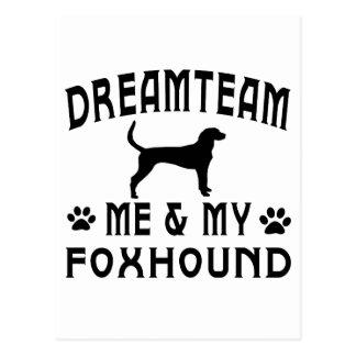 My Foxhound Dog Postcard