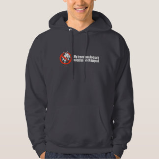 My freedom doesn't need to be changed Bumpers Hooded Pullovers
