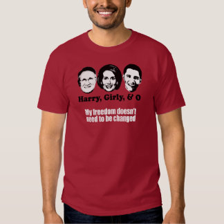 My freedom doesn't need to be changed Bumpers Tee Shirt
