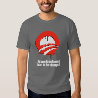 My freedom doesn't need to be changed Bumpers Tshirt