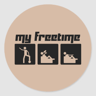 My freetime classic round sticker