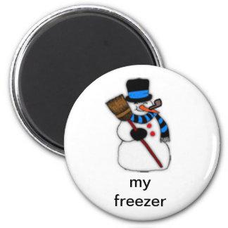 My freezer snowman magnet