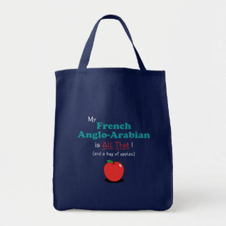 My French Anglo-Arabian is All That! Funny Horse Tote Bags