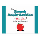 My French Anglo-Arabian is All That! Funny Horse Postcards