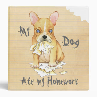 My French Bulldog Ate My Homework Binder