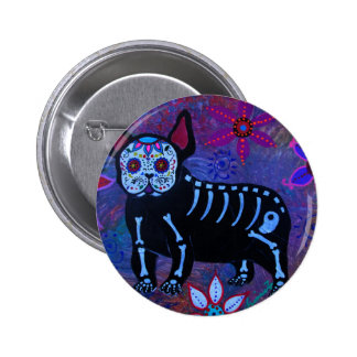 My French Bulldog Dia de los Muertos Button