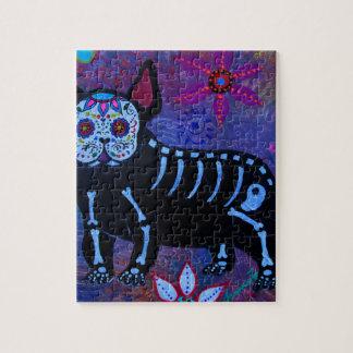 My French Bulldog Dia de los Muertos Jigsaw Puzzle