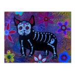 My French Bulldog Dia de los Muertos Post Card