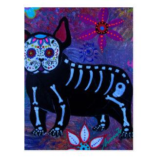 My French Bulldog Dia de los Muertos Postcard