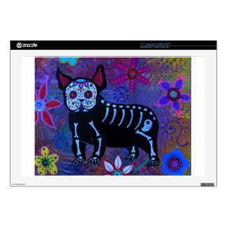 "My French Bulldog Dia de los Muertos 17"" Laptop Skin"