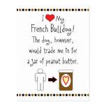 My French Bulldog Loves Peanut Butter Postcard