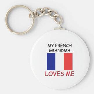 My French Grandma Loves Me Keychain