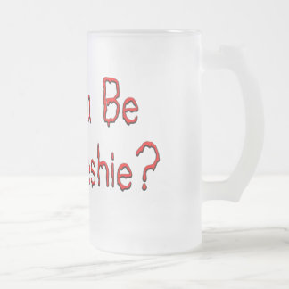 my freshie 16 oz frosted glass beer mug