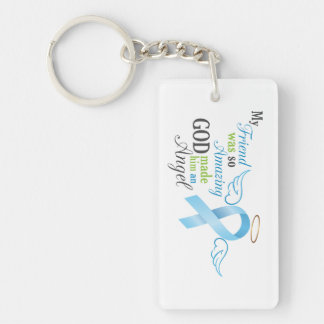 My Friend An Angel - Prostate Cancer Keychain