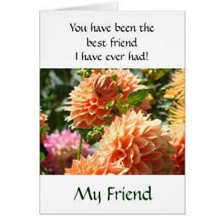 My Friend cards Best Friend I've Ever had card