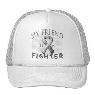 My Friend Is A Fighter Grey Trucker Hat