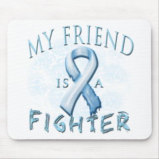 My Friend is a Fighter Light Blue Mouse Pad