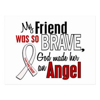 My Friend Is An Angel Lung Cancer Postcard