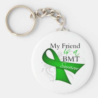 My Friend is Bone Marrow Transplant Survivor Basic Round Button Keychain