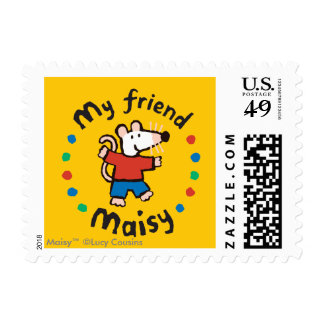 My Friend Maisy Colorful Circle Design Postage