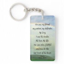 My Friend (Male Dog) Pet Memorial Keychain