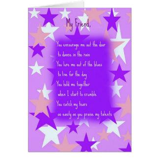 My Friend Original Poetry Greeting Card