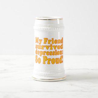 My Friend Survived Depression: So Proud! Beer Stein