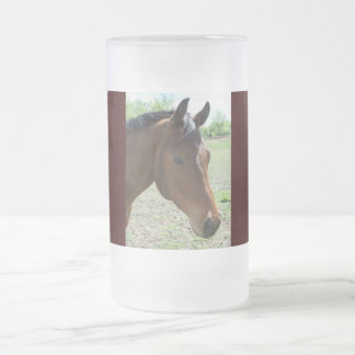 My Friend, The Horse Frosted Glass Beer Mug
