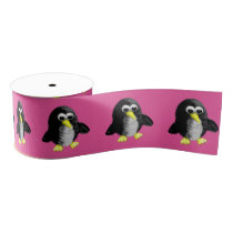 My friend the penguin grosgrain ribbon