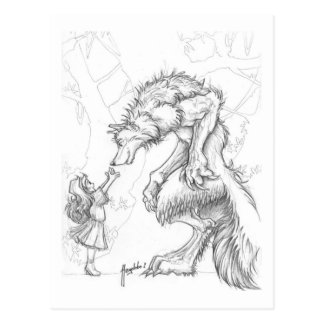 My friend the wolf postcard