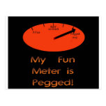 My Fun Meter is Pegged! Post Cards