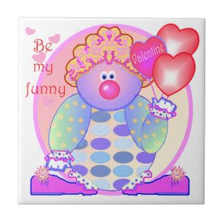 My Funny Valentine Clown Tile