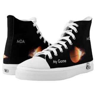 My Game Fire Ball High Top Printed Shoes