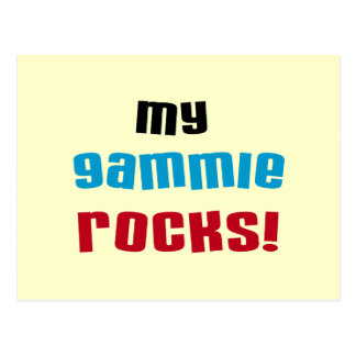 My Gammie Rocks T shirts and Gifts Postcard