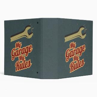 My Garage My Rules 3 Ring Binder